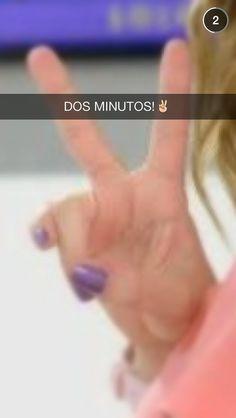 DOS MINUTOS!✌️❤️ #ViolettaLiveZaragoza !!!!