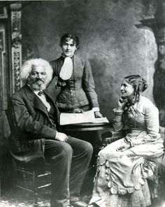 Frederick Douglass with wife Helen Pitts Douglass (class of and Eva Pitts :: Archives & Special Collections Digital Images. Helen was a women's rights activist and the founder of the Frederick Douglass Memorial and Historical Association. Jimi Hendrix, Techno, Retro, Interracial Marriage, Frederick Douglass, Black History Facts, African American History, American Women, Before Us