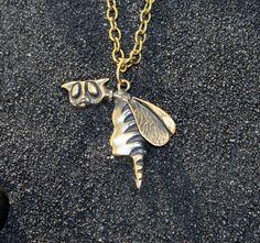 Fairy Cat (Flying Cat , Funny Cat , Cat with Wings): Bronze Handmade Pendant…