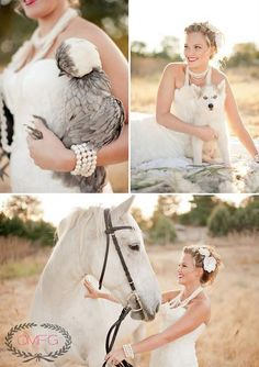 Ok...I understand wanting to take a picture with your horse and your dog, but the chicken?