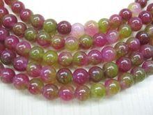hot free Shipping beads jewelry making lovely!! Rainbow Color 8mm natural Watermelon tourmaline Jasper beads YE00017 stone beads(China (Mainland))