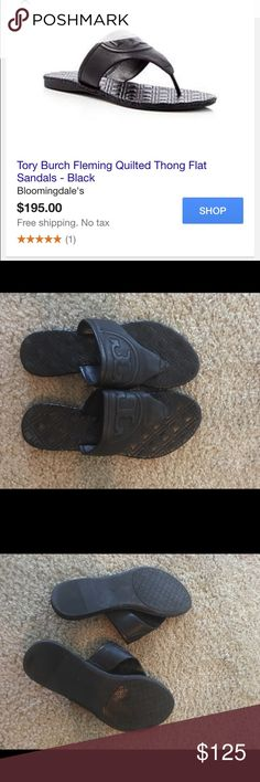 Selling this **FLASH SALE** black Tori Burch  sandals on Poshmark! My username…