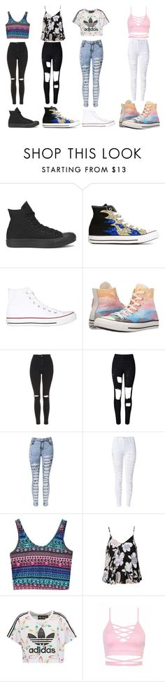 """""""Casual day out"""" by gymnastics-for-life ❤ liked on Polyvore featuring Converse, Topshop, WithChic, Ally Fashion and adidas Originals"""