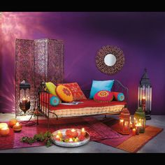 candle lights in an exotic surrounding
