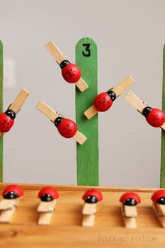 Preschool Math ~ Ladybug Number Game Ladybugs are one of my favorite bugs.  Have you tried making any of our fun Ladybug Crafts?  My favorite is our long legged paper plate ladybugs.  Adorable!  So it just seemed natural to create a … Continue reading →