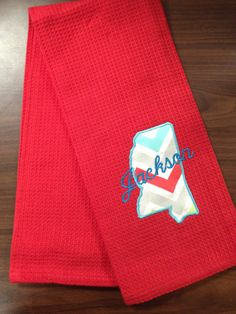 Jackson Mississippi Appliqued Towel by TMIGifts on Etsy, $10.00