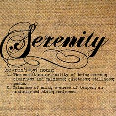 SERENITY Word DEFINITION