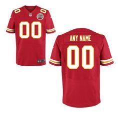 Nike Kansas City Chiefs Customized Red Stitched Elite Men's NFL Jersey