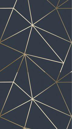 Zara Shimmer Metallic Wallpaper in Navy and Gold. For similar designs visit ilovewallpaper.co.uk #ilovewallpaper #wallpaper #navy #gold #interiordesign #homeinspo