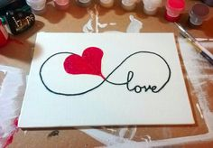 Glitter Love Infinity Heart Canvas by NocturnalPandie on Etsy