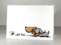 I Dig You card by Emily Leiphart for Paper Smooches - Woofers & Tweeters, Santa Paws