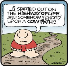 I feel the same way some days.  #cowpath