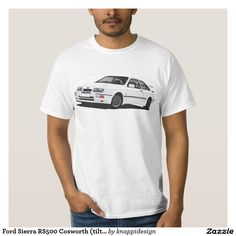 Ford Sierra RS Cosworth (tilted) T-shirts  #ford #sierra #rs  #cosworth #automobile #car #tshirt #fordsierra #80s #zazzle