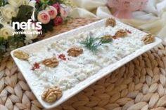 Ezme Karnabahar Salatası - Nefis Yemek Tarifleri Turkish Kitchen, Food Service, Feta, Salads, Decorative Boxes, Food And Drink, Appetizers, Snacks, Vegetables