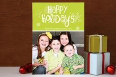Holiday Sparkle Holiday Photo Cards  @Katie Hanlon