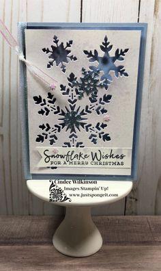 Stampin Up Christmas, Christmas Cards To Make, Xmas Cards, Holiday Cards, Christmas Tag, Christmas Catalogs, Christmas Snowflakes, Snowflake Cards, Jingle All The Way