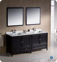72 Inch Double Sink Bathroom Vanity In Espresso Uvfvn203636es72