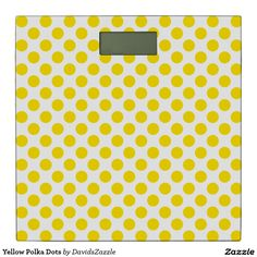 Yellow Polka Dots Bathroom Scale  Available on many products! Hit the 'available on' tab near the product description to see them all! Thanks for looking!  @zazzle #art #polka #dots #shop #home #decor #bathroom #bedroom #bath #bed #duvet #cover #shower #curtain #pillow #case #apartment #decorate #accessory #accessories #fashion #style #women #men #shopping #buy #sale #gift #idea #fun #sweet #cool #neat #modern #chic #laptop #sleeve #black #orange #blue #yellow #green  #white