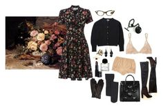 autumn dusk among the flowers by ghoulnextdoor on Polyvore featuring La Perla, Alexander McQueen, Wouters & Hendrix, MICHAEL Michael Kors, Nordstrom, Whitby, Peek, Edina Ronay and Byredo