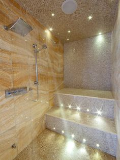 Steam shower, could add far infrared sauna in the same space = two fer: