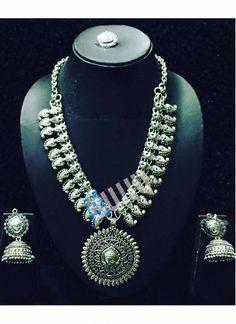 7597386dd Durga Maa Designer Pendant German Silver Necklace Set Product code:  MIJA90N125 Retail price: 1,569/- Sale price : 1,494/-