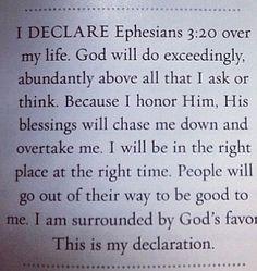 I Declare God will do abundantly. ..