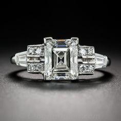 2.24 Carat Rectangular Step-Cut Diamond Ring GIA G VS2