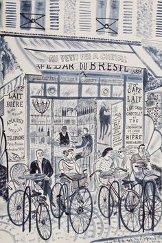Emily Sutton, Cheval, Courtesy the artist and Yorkshire Sculpture Park illustration Art And Illustration, Illustration Inspiration, Yorkshire Sculpture Park, Drawn Art, Bicycle Art, Urban Sketching, Mail Art, Adult Coloring Pages, Illustrators