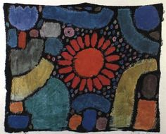 Paul Klee  'Blume in Tal' (Flower in Valley) 1938 Tempera  15.4 x 18.9""