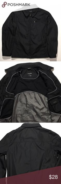 Calvin Klein Rainwear Jacket Men's - Black Small Offering the most sanitary pre-owned footwear since day one. ♻️ ____________________________________ Men's Calvin Klein water resistant wind protection Jacket - Black Small  $28 Fast Expedited shipping ____________________________________ Item details: • Brand: Calvin Klein • Style: Rainwear Jacket • Closure: Zip • Size: Small • Material: Shell: 100% Polyester, Lining: 100% Polyester • Color: Black  Universal Product Identifiers Brand - Calvin…