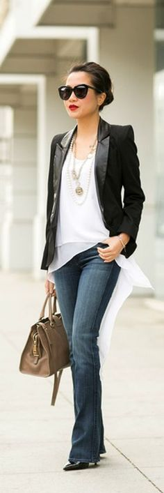 Just a Pretty Style: Slim bootcut and tailored blazer