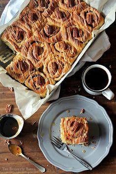 Caramel Pecan Sticky Buns   The Brunette Baker