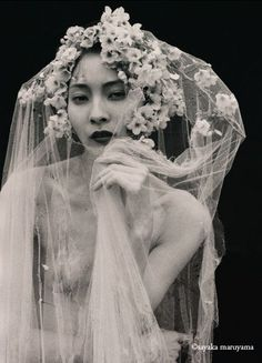 Dramatic floral veil. Sayaka Maruyama