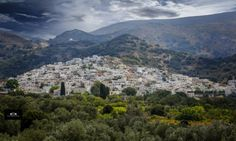Beautiful village of Filoti, countryside of Naxos