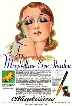 1930 Maybelline advertisement #Ad #Makeup #Cosmetics #Beauty #Vintage #Retro #1930s