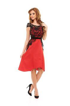 StarShinerS Rich Diva Red Dress Prom Dresses, Formal Dresses, Wedding Dresses, Baptism Dress, Little Fashionista, Sweet Style, Lace Fabric, Diva, Fashion Dresses