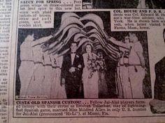 APR 26, 1938 NEWSPAPER PAGE #3940- JAI ALAI PLAYERS WEDDING TRADITION