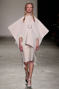 Stationery and ring-bound sheets of paper influenced this collection by Westminster fashion graduateSophie Nuttall.