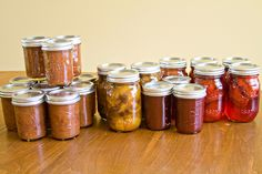 Peach Chutney, Peach Pie Filling, Plums in Syrup, & Plum Butter | Sugarcrafter