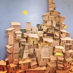 City made of boxes