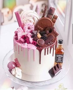 🍰 Do you know for what occasion this cake is for?☺ - For two people birthdays - women and men! - Learn how to decorate cake! Beautiful Birthday Cakes, Birthday Cakes For Women, Twin Birthday Cakes, 21st Birthday, Bolo Do Mario, Food Cakes, Cupcake Cakes, Bolo Tumblr, Bts Cake