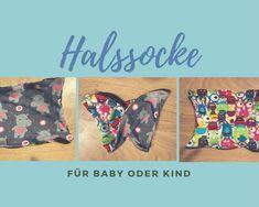 Oft bleiben Hals und Nacken unserer Kleinen frei. Ich habe ein Minifreebook für die perfekte Lösung: eine Halssocke! Inklusive Schnittmuster