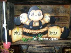 "Kit de pintura ""Abelhinha sentada"" | Atelier Gummy & Tutta | Elo7"