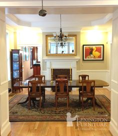 Karastan 700 701 Original Navy Heriz In A Dining Room Setting We Love The