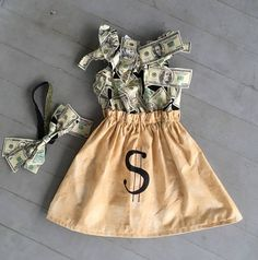 Money Bag tycoon Halloween costume baby child girl women