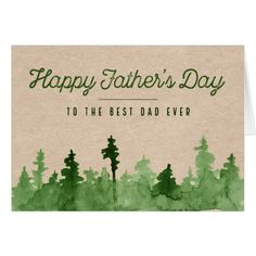 10 More Great Father's Day Gifts Fathers Day Cake, Fathers Day Quotes, Happy Fathers Day Cards, Fathers Day Ecards, Diy Father's Day Cards, Green Watercolor, Watercolor Trees, Watercolor Paintings, Paint Cards