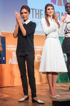 Victoria op koninklijke hoogte met Koningin Rania van Jordanië in haar puntige designerflats