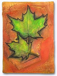 """Jerry Clarke's """"Leaves"""" series Bas Relief Wall Sculptures immortalize leaves from Central Park"""