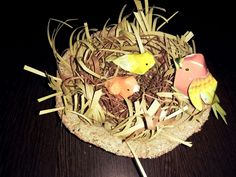 Paper made bird nest.
