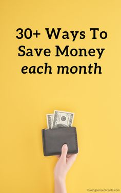 30 Ways To Save Money Each Month #waystosavemoney #moneysavingtips Saving Ideas, Money Saving Tips, Household Expenses, Money Today, Ways To Save Money, Finance Tips, Extra Money, Personal Finance, Frugal